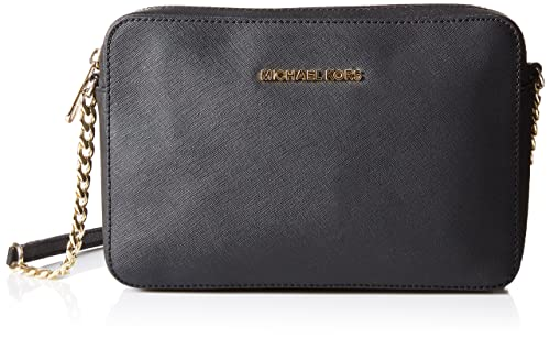 860858f407 Michael Kors Jet Set Large, Borsa a Tracolla Donna, Nero (Black),