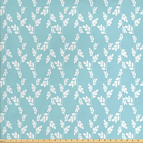 Amazon Com Ambesonne Rustic Fabric By The Yard Rural Meadow Field
