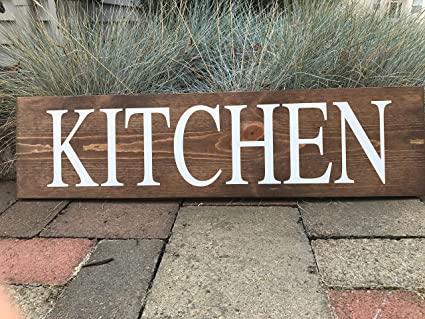 Etonnant Kitchen Sign Decor Small Sign Brown Rustic Home Decor Farmhouse Hand  Painted Kitchen Wall Art Shabby