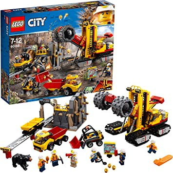 LEGO City Mining Experts Site Building Blocks for Kids 7 to 12 Years ( 883 Pcs) 60188 Model Building Tool Kits at amazon