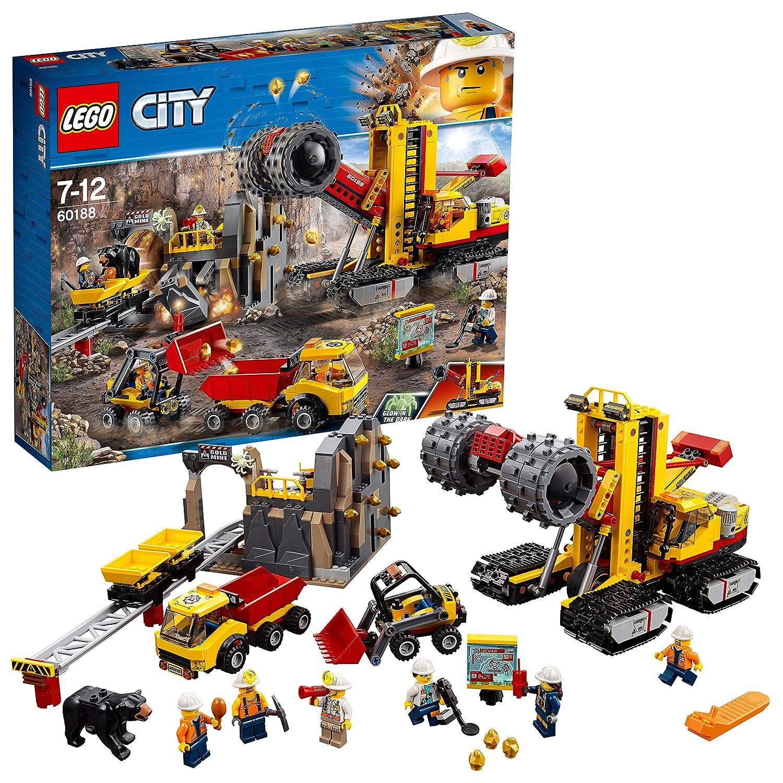 LEGO City 60188 - Bergbauprofis Bergbauprofis an der Abbaustätte, Kinderspielzeug LEGO®