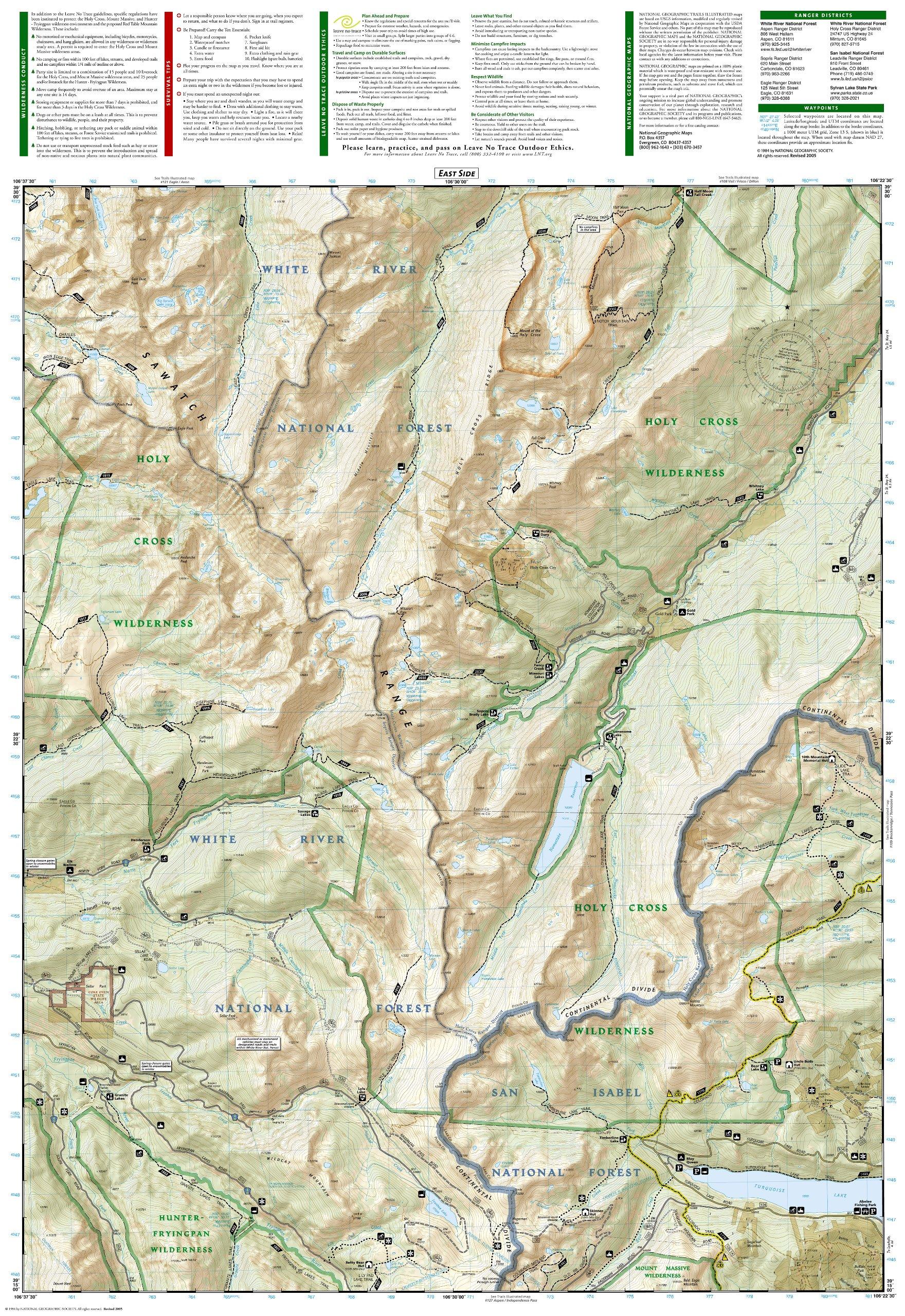 Holy Cross/Reudi Reservoir Trails Illustrated Map #126: National ...