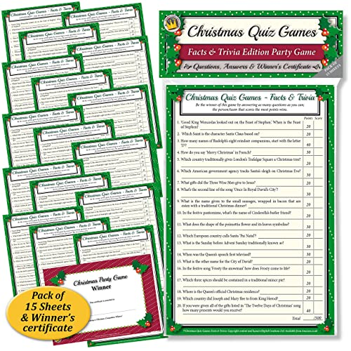 christmas quiz games facts trivia party game for family office xmas parties - Family Games To Play At Christmas