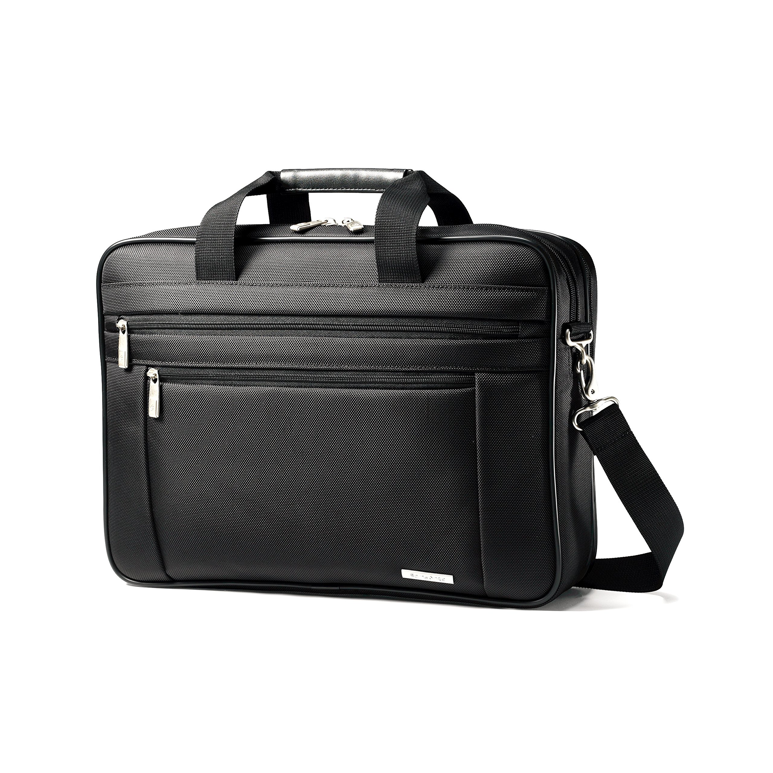 Samsonite Classic Business Perfect Fit Two Gusset Laptop Bag - 15.6'' Black
