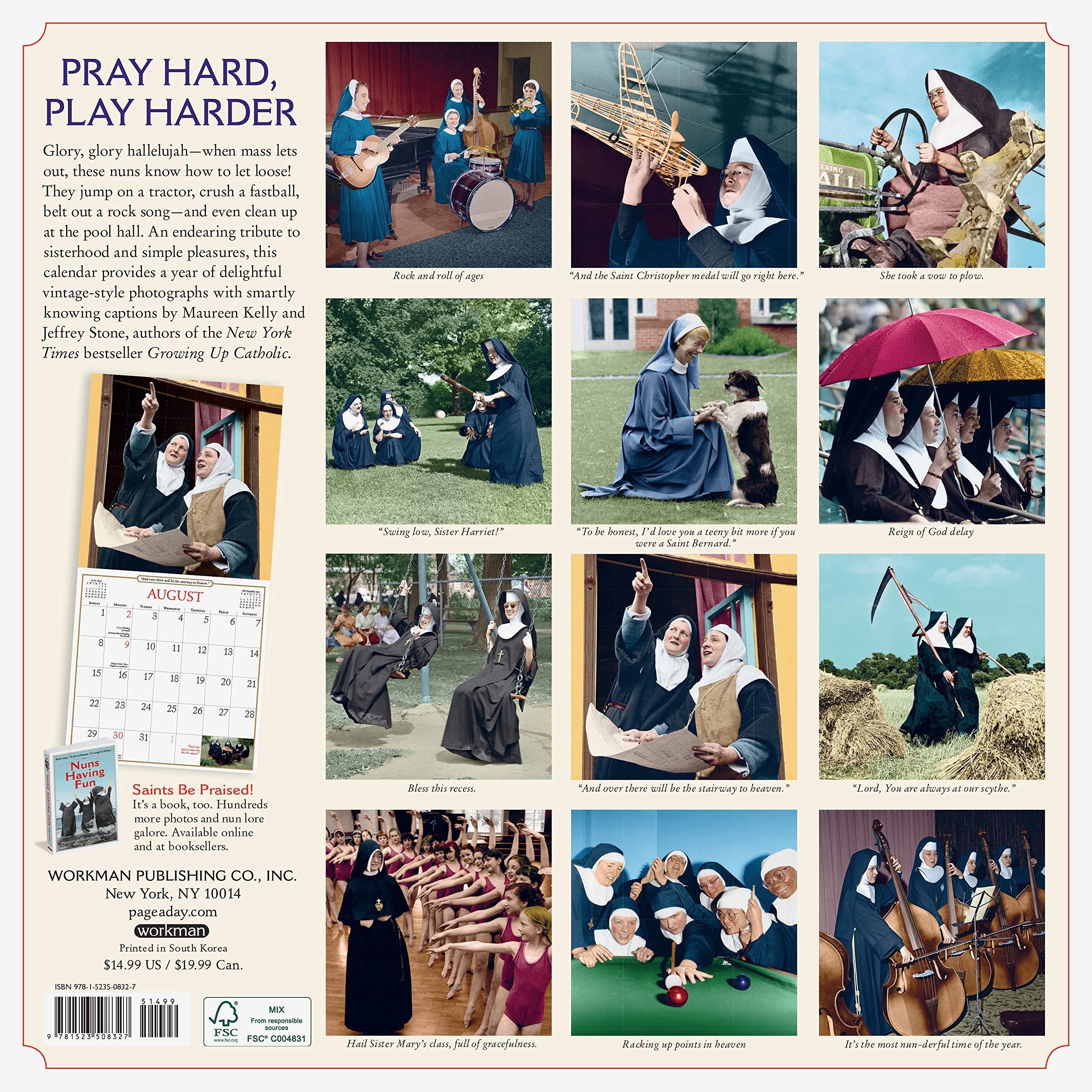 Nuns Having Fun 2021 Calendar Pictures