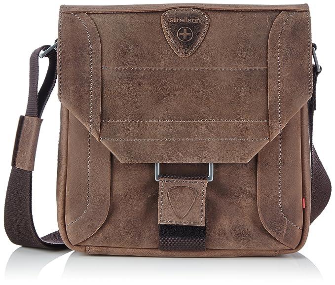 Strellson Hunter Messenger SV 4010000188 Herren Messengertaschen 25x25x7 cm (B x H x T), Braun (dark brown 702)