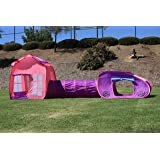 G3Elite Kids Playhouse Play Tent, Childs 3 Piece Pop Up Indoor/Outdoor Foldable Fun Tunnel Set, Childrens 3 In 1: House, Tunnel And Vehicle - With Carry/Storage Bag (1 Year Warranty)