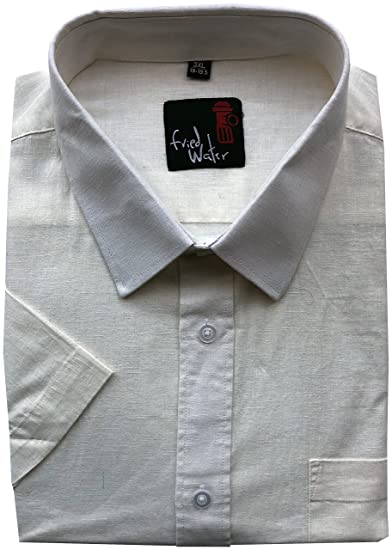 Chemise Casual Manches Uni Classique Water Fried Col wHnqPEt5ZF