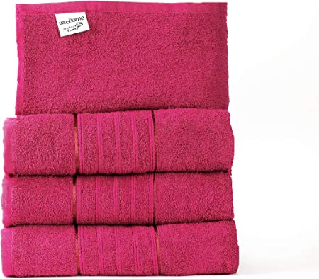 UAREHOME Juego de 4 algodón Egipcio Puro para baño (Toalla de Mano, Fucsia): Amazon.es: Hogar