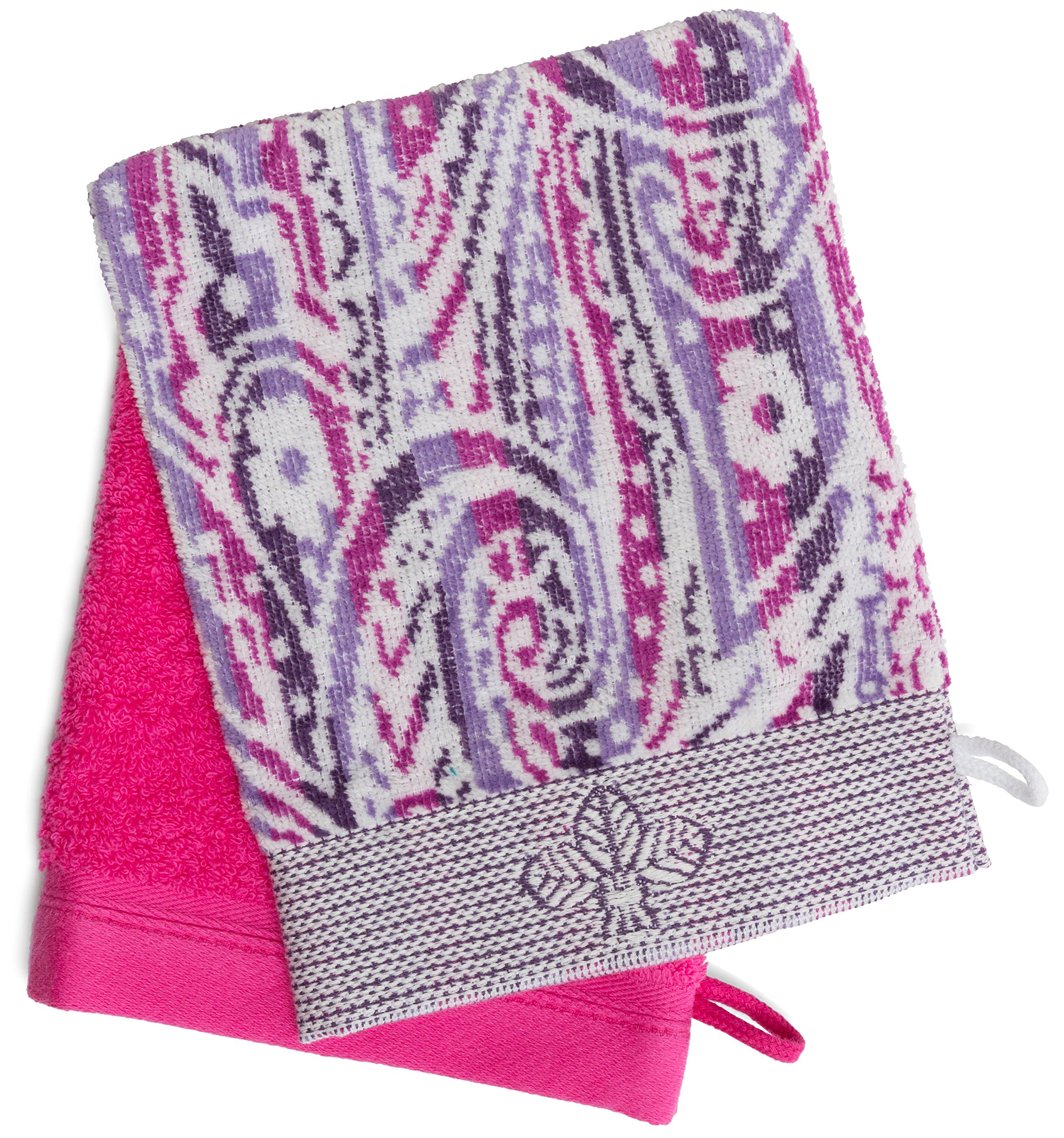 France Luxe Body French-Style Bath Mitt 2-Pack - Fleur Lilac Multi/Pink