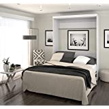 Bestar Boutique Murphy Wall Bed Queen - White