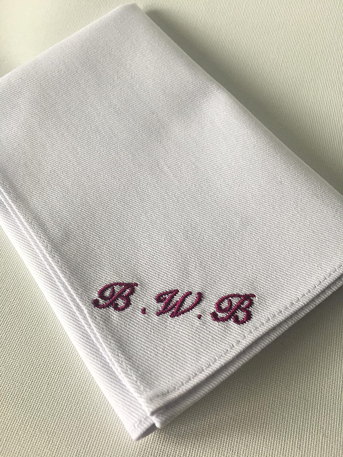 Personalized Handkerchief - White pocket square with initials - Pocket square with embroidery - Wedding - Accessories - Gift for him