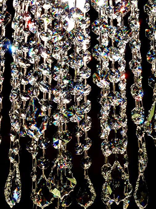 8 swarovski spectra kristalle tropfen 380x270 mm für dekoration ...