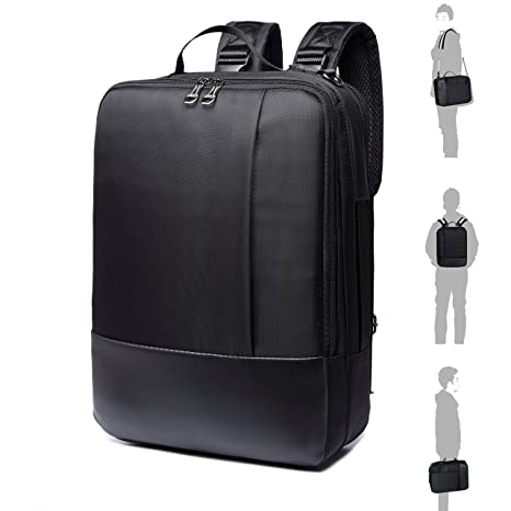 8b5ea73b93 Multifunctional Laptop Backpack AOKE Convertible Computer Backpack  Messenger Bag Breifcase for 15.6 inches Laptop MacBook
