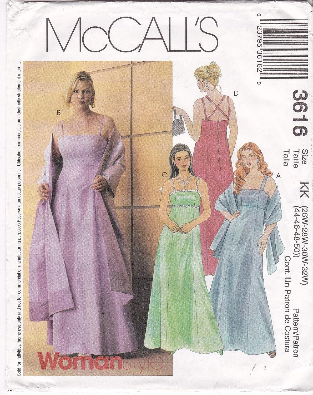 Amazon.com: Evening Dress Empire Waist Shoulder Strap Flared ...
