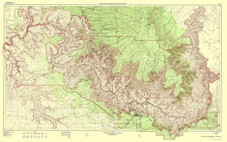 Amazon Com Topographical Map Grand Canyon Vicinity Arizona