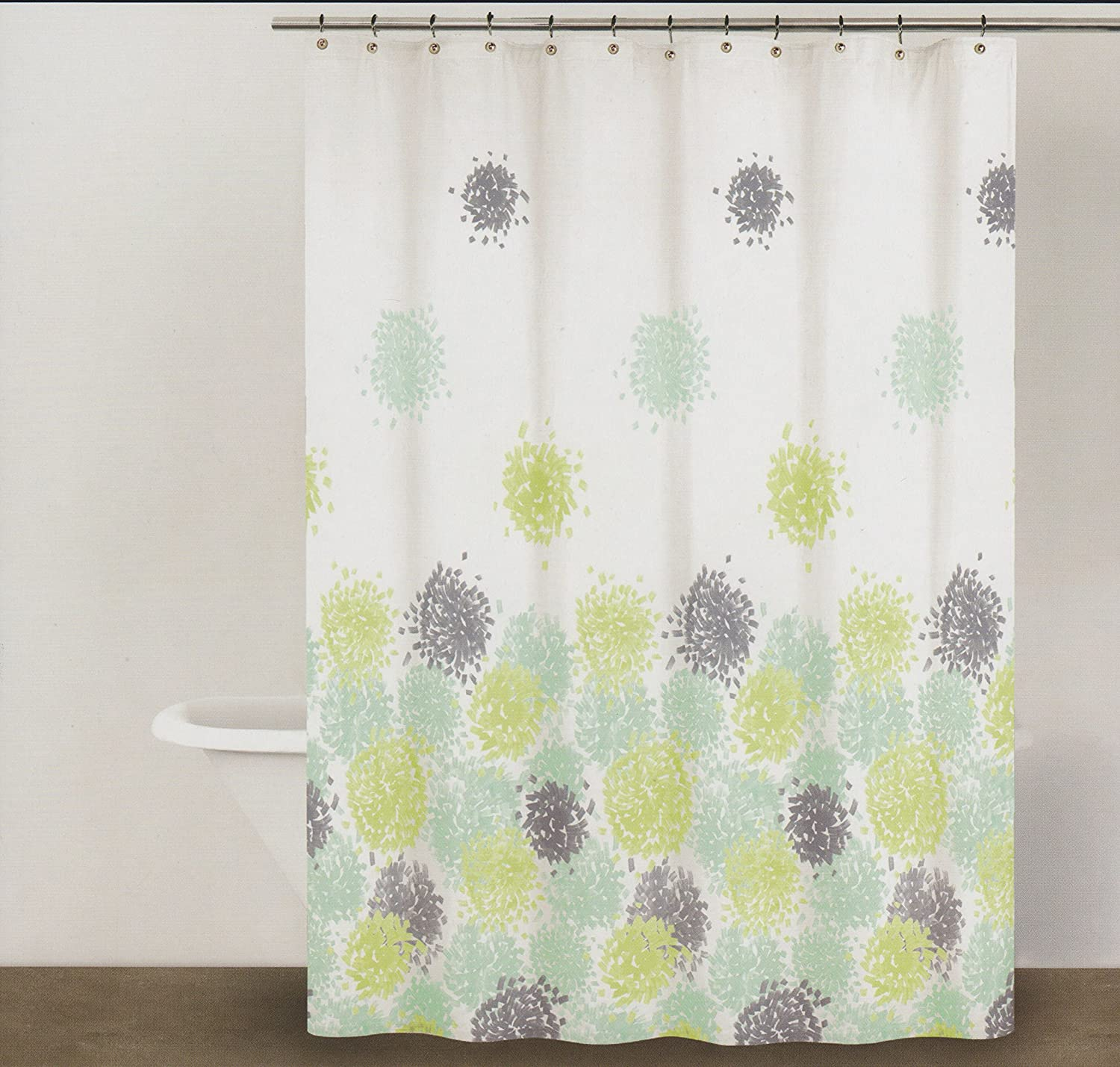 Dkny Bathroom Accessories Amazoncom Dkny Brushstroke Floral 100 Cotton Shower Curtain 72