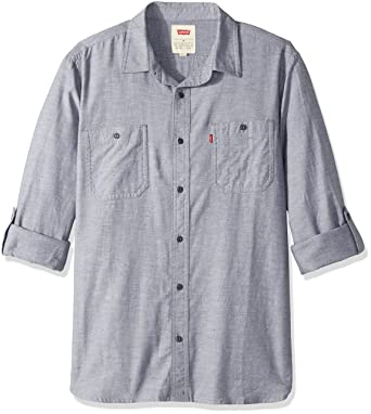 5c458f87 Levi's Men's Chalk Cotton Button Down Shirt at Amazon Men's Clothing store: