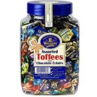 WALKERS NONSUCH Assorted Toffees and Chocolate Eclairs Jars