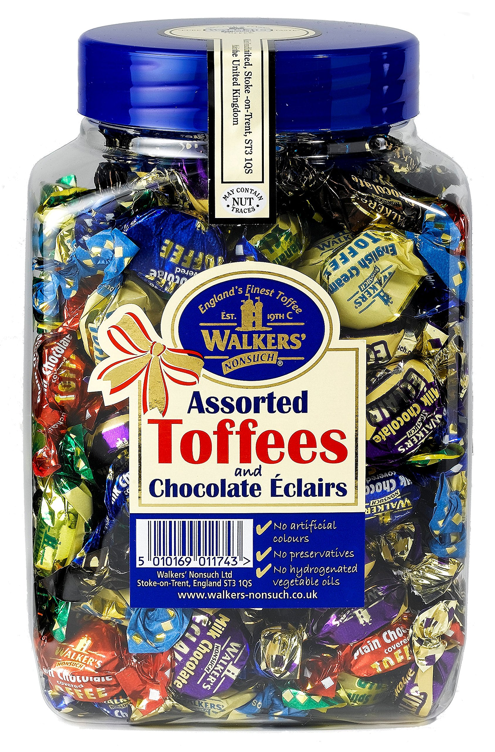 WALKERS NONSUCH Assorted Toffees and Chocolate Eclairs, 1.25Kg by Walker's Nonsuch
