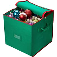 christmas ornament storage stores up to 64 holiday ornaments adjustable dividers zippered closure