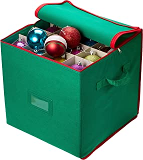 Christmas Ornament Storage - Stores up to 64 Holiday Ornaments Adjustable Dividers Zippered Closure  sc 1 st  Amazon.com & Amazon.com: Elf Stor 30-Inch-by-60-Inch Christmas Tree Storage Bag ... Aboutintivar.Com