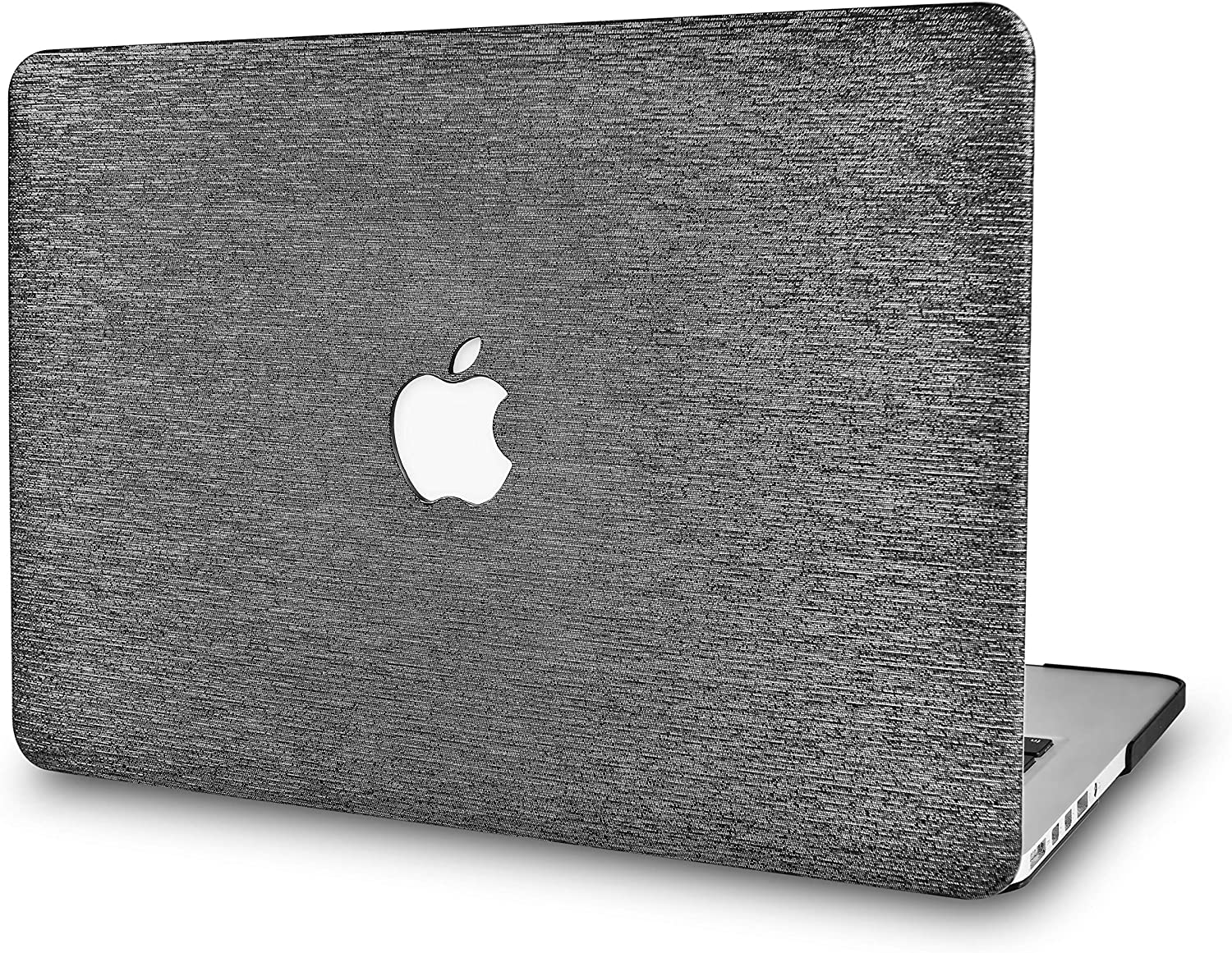 """LuvCaseLaptopCaseforOld MacBook Pro 13"""" Retina Display (2015/2014/2013/2012 Release) A1502/A1425LeatherHardShellCover (Silver Grey Leather)"""