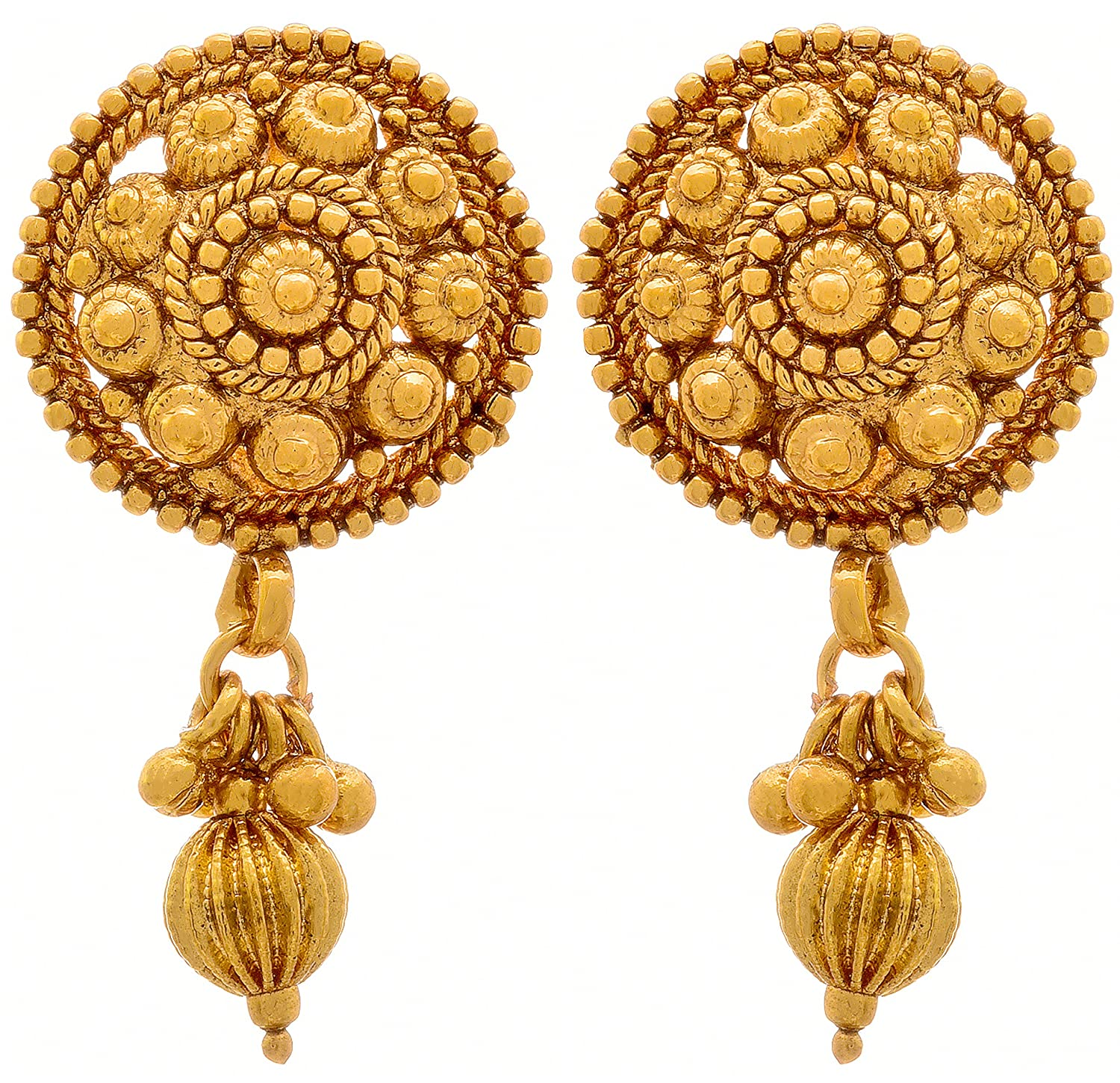 Buy Jfl - Jewellery For Less Traditional Ethnic One Gram Gold ...