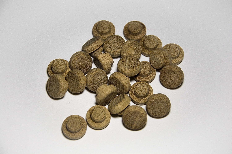 Pack de 25 tapones de madera Roble (Ø 10/15 mm con mecha): Amazon.es: Bricolaje y herramientas