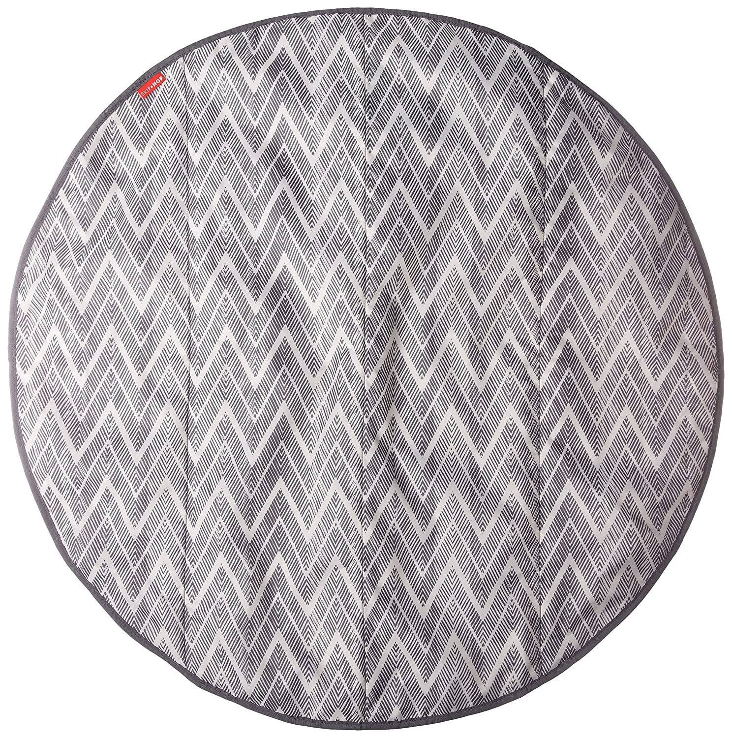 Skip Hop Grab-and-Go Round Trip Travel Mat, Grey Zig Zag 274150