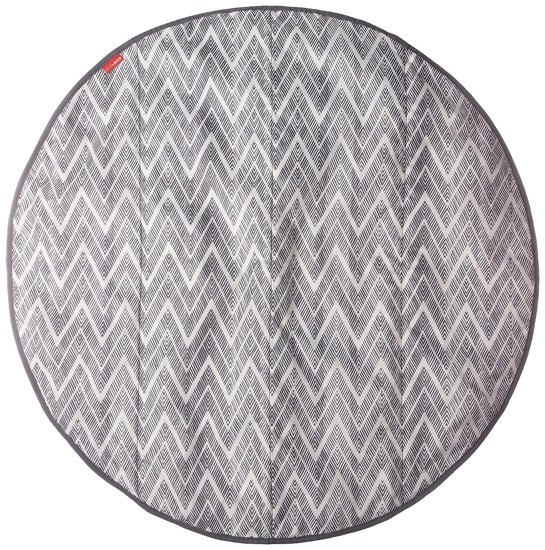 Skip Hop Grab-and-Go Round Trip Travel Mat, Grey Zig Zag 274150