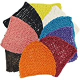 One Size, Comfortable, Thick and Short Hair Net Snoods, 9 Wonderful Colors For You To Choose, A Ture Value Pack- 6 The Same Color In The Package or 9 Different Colors a Pack.