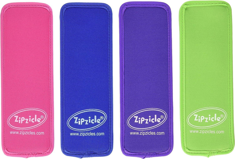 Zipzicle NPH4 Ice Pop Holders, 4 Pack, blue, green, pink, purple