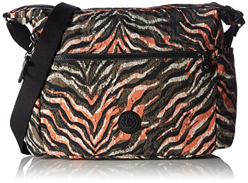 04252a6ac Kipling ALENYA, Bandolera para Mujer, Multicolor (Pink Animal Pr)  32x32x14.5 cm: Amazon.es: Zapatos y complementos