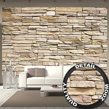 Fototapete Steinoptik 3d Wandbild Dekoration Stein Tapete Mauer  Wandverkleidung Steinwand Schiefer Sandstein Steinmauer Stonewall |