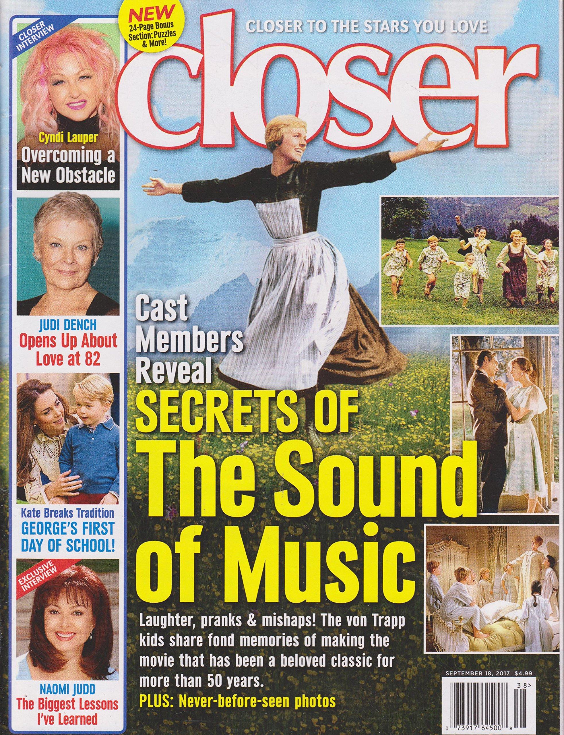 Closer Magazine September 18 2017 Secrets of The Sound of