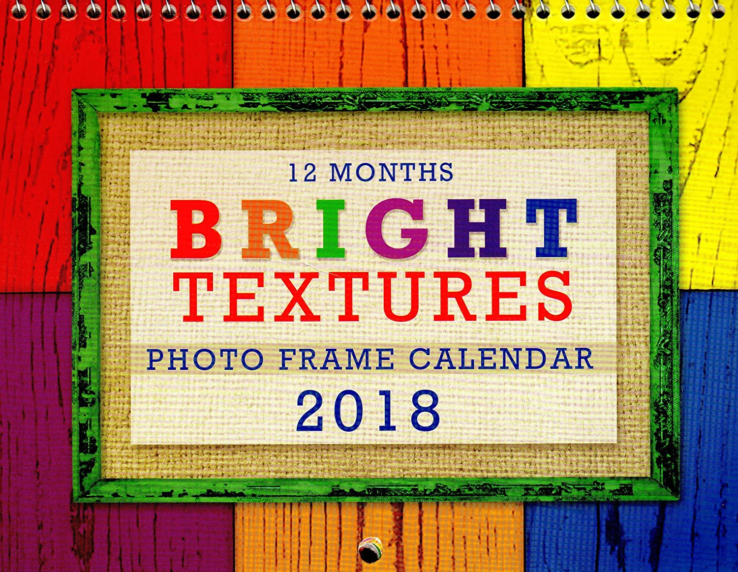 Amazon.com : Bright Textures - 2018 Photo Frame Wall Spiral-bound ...