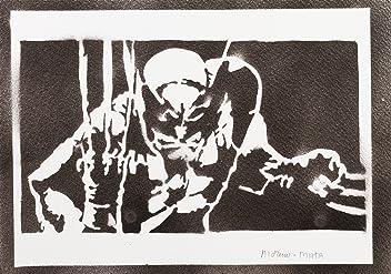 Póster Lobezno X-Men Grafiti Hecho A Mano - Handmade Street Art - Artwork
