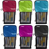 Five Star Stand 'N Store Pencil Pouch, Pen Holder, Pencil Pouches, Assorted Colors, 6 Pack (73199)