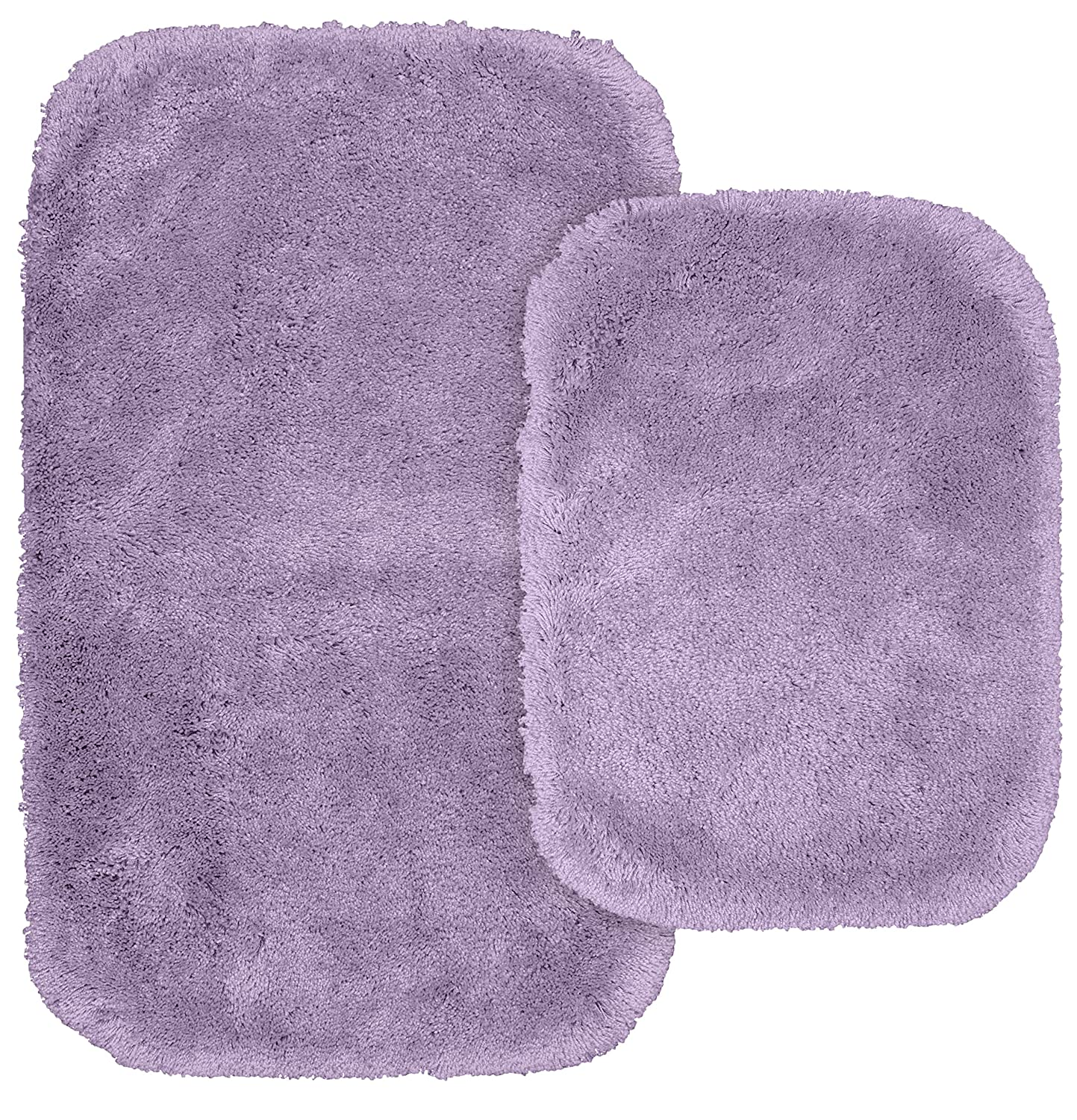 Garland Rug BA130W2P04J1 BA130W2P04I9 Finest Luxury Bath Rug Set, 2-Piece, Purple
