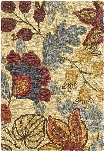 Safavieh Jardin Collection JAR952A Handmade Beige and Multi Premium Wool Area Rug 2 x 3
