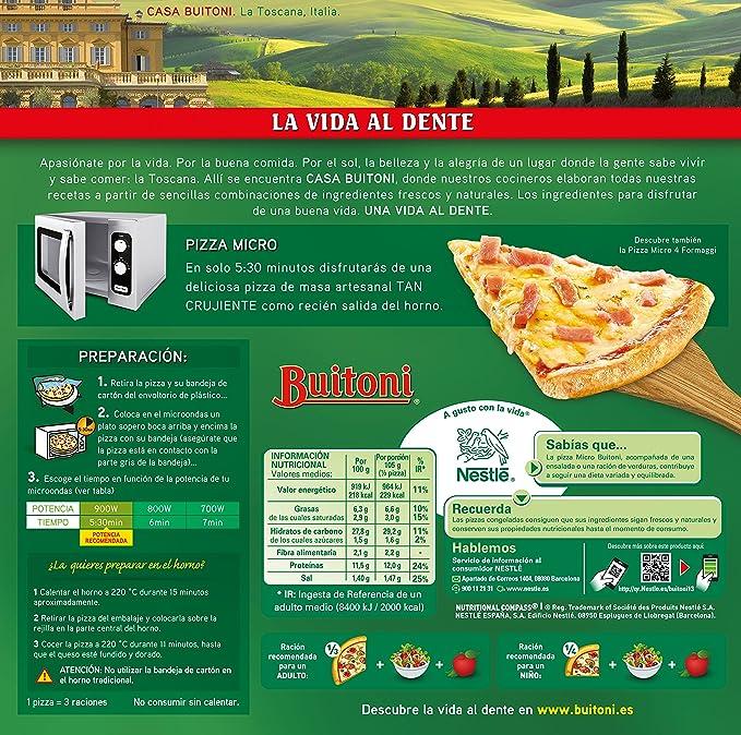 BUITONI Pizza MICRO Proscuitto - Pizza Congelada de jamón y ...