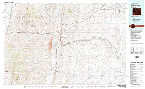 Kemmerer Wyoming Map.Amazon Com Yellowmaps Kemmerer Wy Topo Map 1 100000 Scale 30 X