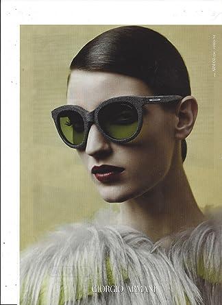 43574dabdfb3 Amazon.com    PRINT AD   With Marikka Juhler For 2014 Giorgio Armani  Sunglasses   PRINT AD    Entertainment Collectibles