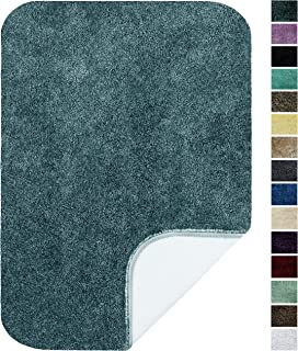 """product image for Maples Rugs ColorSoft Non Slip Washable & Quick Dry Soft Bathroom Rugs [Made in USA], 20"""" x 34"""", Teal Quartz"""
