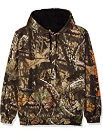 Carhartt Mens Midweight Camo Sleeve Logo Hooded Sweatshirt Hooded Sweatshirt