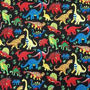 Kinder Dinosaurier Print 100% Premium Baumwolle Stoff Material für ...
