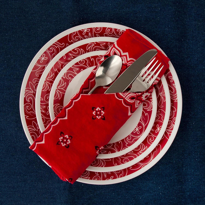 Service for 4 Bandhani Corelle Livingware 16-Piece Dinnerware Set