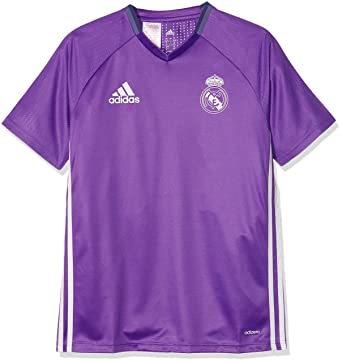4bb31bbb25d adidas Real Madrid 2016 Training Shirt Junior  Amazon.co.uk  Sports    Outdoors