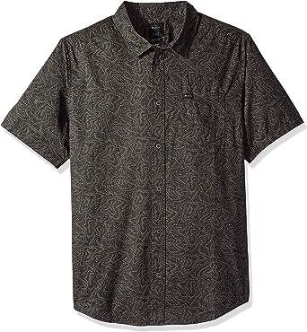 RVCA Hombre M505SRSH Manga Corta Camisa de Botones: Amazon.es: Ropa y accesorios